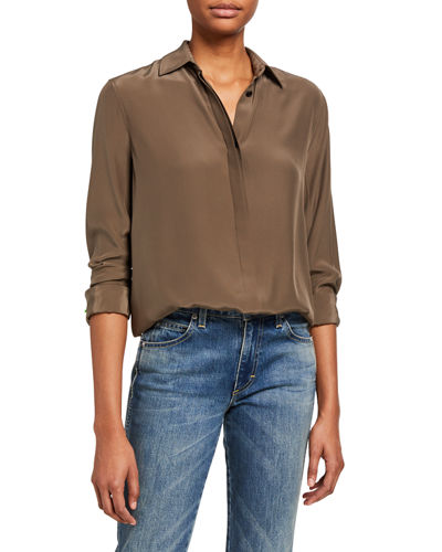 Rag & Bone Anderson Button-Down Silk Shirt