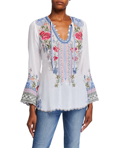 Petite Millie Embroidered Blouse