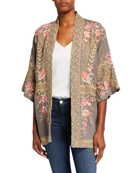 Johnny Was Rianne Embroidered Linen Kimono