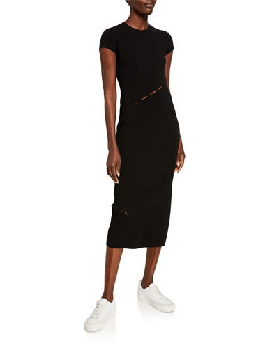 Rag & Bone Eden Slashed Midi T-Body Dress