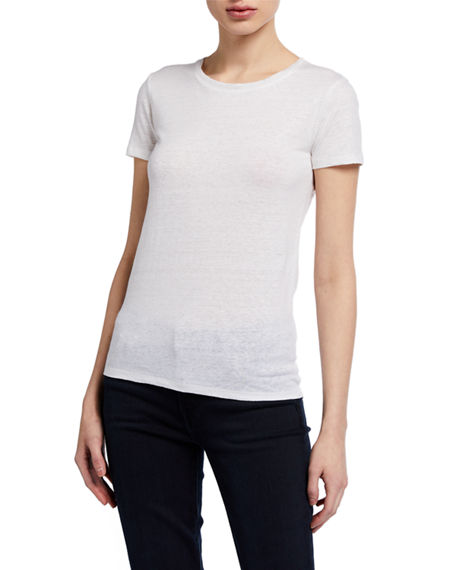 Image 1 of 2: Majestic Filatures Stretch Linen Crewneck Tee