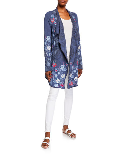 Nohan Embroidered Wrap Jacket