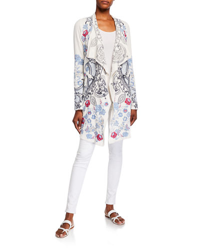 Plus Size Nohan Embroidered Wrap Jacket