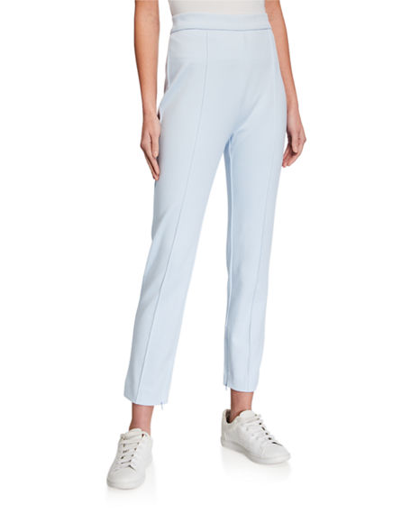 Image 1 of 4: Joan Vass Stitched Seam Ankle Pants