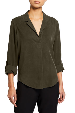 Go Silk Petite Go Anywhere Silk Fuji Top