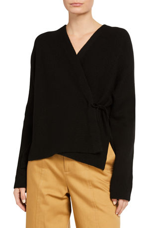 Vince Wrap-Front Wool-Blend Cardigan