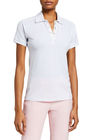 Anatomie Ella Short-Sleeve Polo Shirt