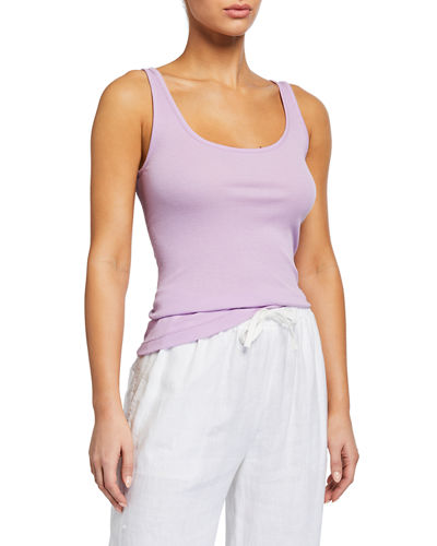 Scoop-Neck Pima Tank
