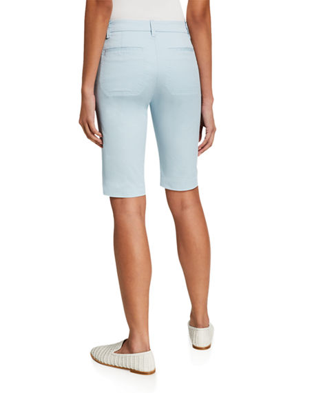 Image 2 of 4: Vince Coin Pocket Stretch Cotton Bermuda Shorts