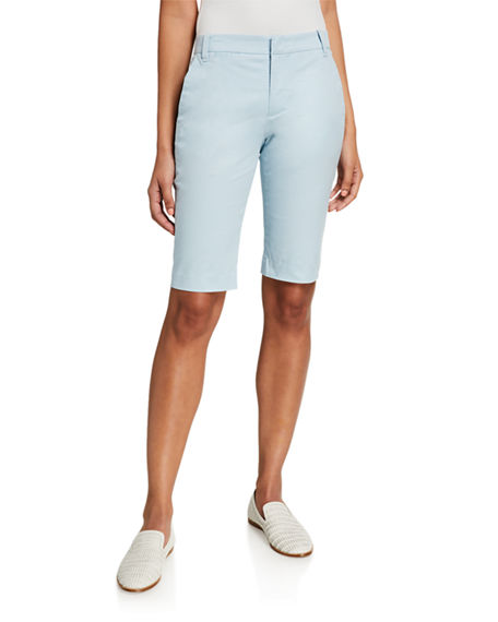 Image 1 of 4: Vince Coin Pocket Stretch Cotton Bermuda Shorts