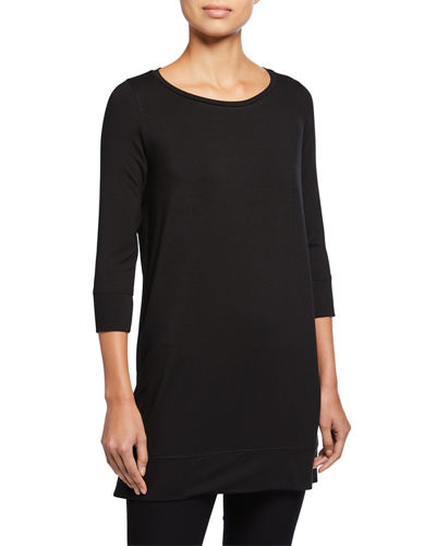 Eileen Fisher Solid 3/4-Sleeve Fine Jersey Tunic