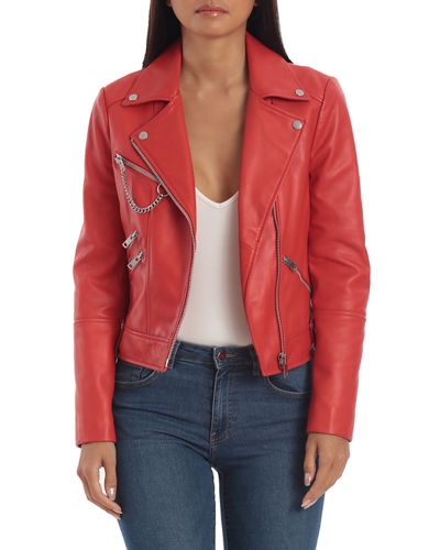Hardware Heavy Leather Biker Jacket