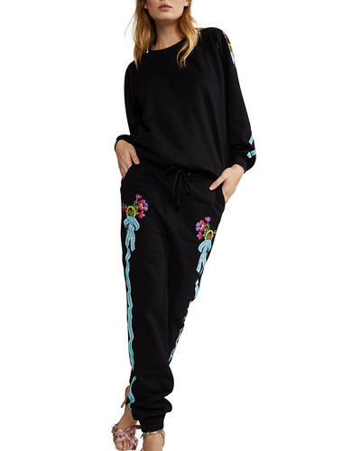 Cynthia Rowley Dylana Ribbon Stripe Jogger Pants