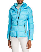 Bogner Sanne Quilted Down Puffer Coat with Hood