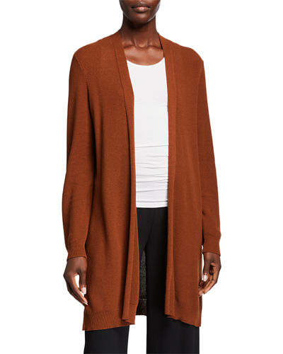 Lyocell Open-Front Cardigan