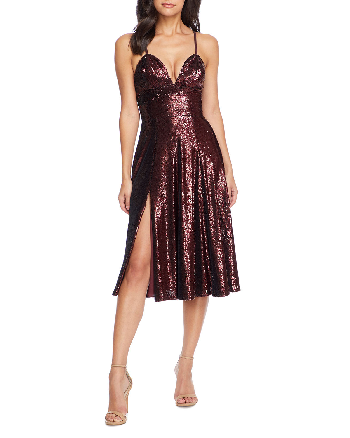 Mimi Sequined Sweetheart Cocktail Dress