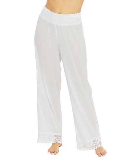 La Blanca Smocked Waist Lounge Pants