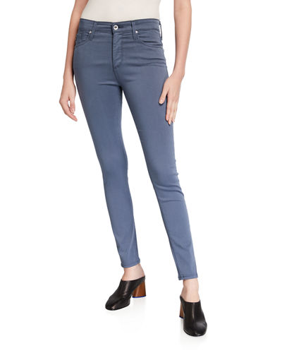 Farrah Sateen High-Rise Ankle Skinny Jeans