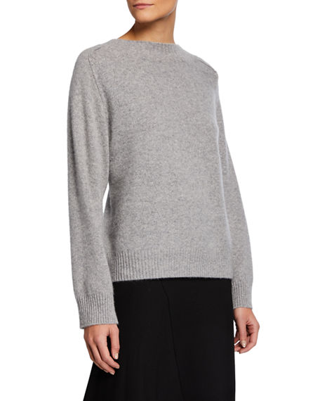 Vince Band-Collar Raglan Cashmere Sweater