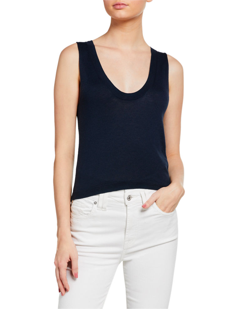 7 for all mankind Vintage Cropped Tank