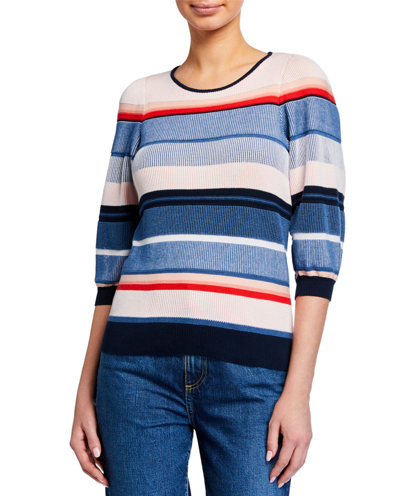 Parker Tucson Knit 3/4-Sleeve Top