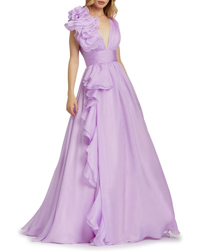 Purple Imported Gown Neiman Marcus