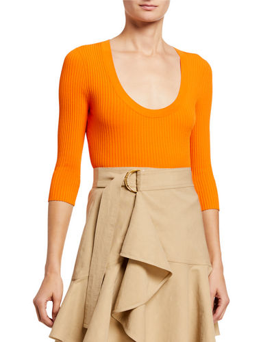 A.L.C. Brandon Scoop-Neck Top