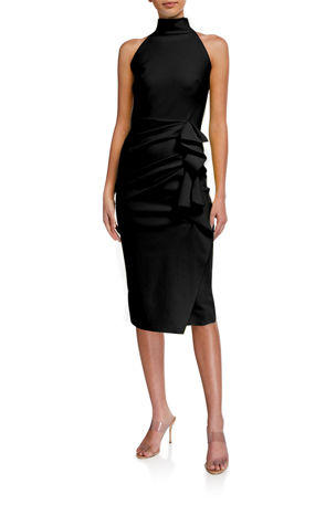 Chiara Boni La Petite Robe Sleeveless Halter Ruched Dress