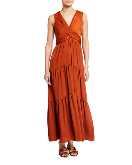 Kobi Halperin Courtnie Sleeveless Tiered Maxi Dress