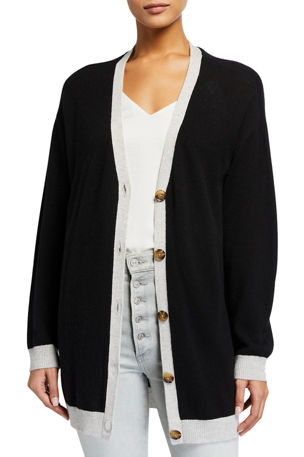 ATM Anthony Thomas Melillo Oversized Wool-Cashmere Cardigan