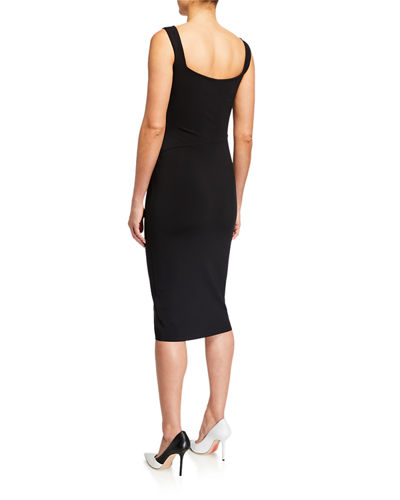Chiara Boni La Petite Robe Majel Side-Shirred Tank Dress