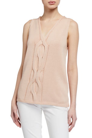 Lafayette 148 New York Tape Yarn Cable Tank