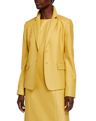 Thatcher Studio Weave Two-Button Blazer