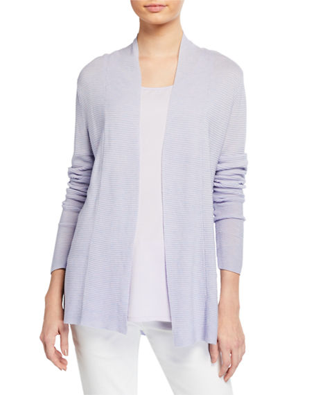 Eileen Fisher Shaped Fine Tencel/Silk Cardigan