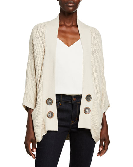 Pure & Co Ideas Open-Front Cardigan