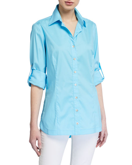 Finley Joey Roll-Up Sleeve Button-Down Shirt