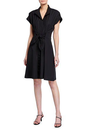 Finley Rocky Tie-Front Shirtdress