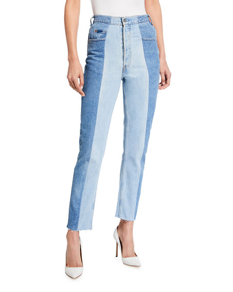 E.L.V Denim The Straight Leg Crop Jeans