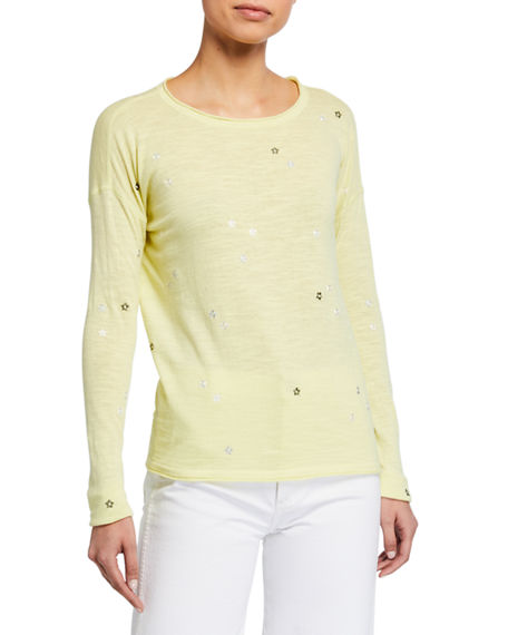 Lisa Todd Ditzy Long-Sleeve Slub Knit Tee