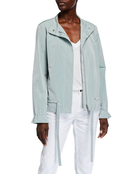 Lafayette 148 New York Chapman Zip-Front Empirical Tech Cloth Jacket