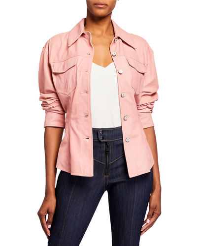 Scrunched Leather Canyon Jacket