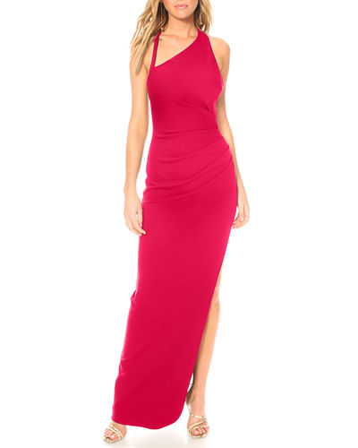Womens Ladies Mesh Gathered Racer Back Cap Sleeve Side Slit Cut Out Maxi Dress
