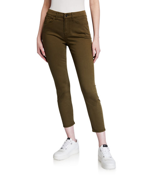 Jen7 by 7 for All Mankind Mid-Rise Ankle Skinny Jeans