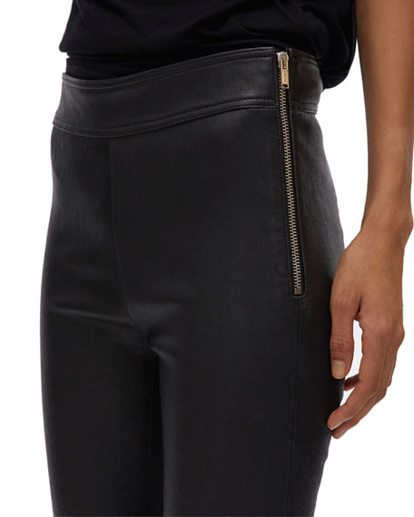 Image 4 of 4: Helmut Lang Zip Leather Leggings