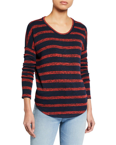 The Knit Striped Long-Sleeve Top