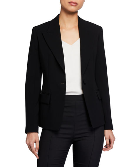 Theory Angled One-Button Blazer
