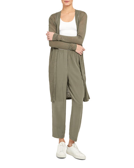 Theory Torina S Open-Front Long Cardigan