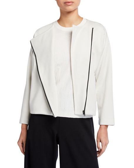 Image 1 of 4: Eileen Fisher Flex Lyocell Ponte Zip-Front Jacket
