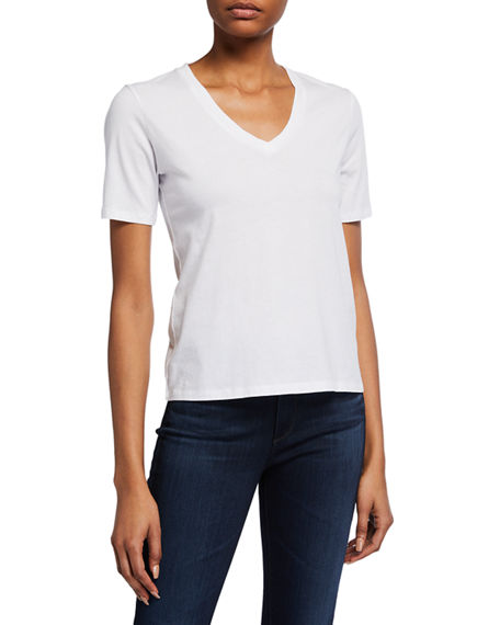 Majestic Filatures Silk Touch V-Neck Short-Sleeve Tee
