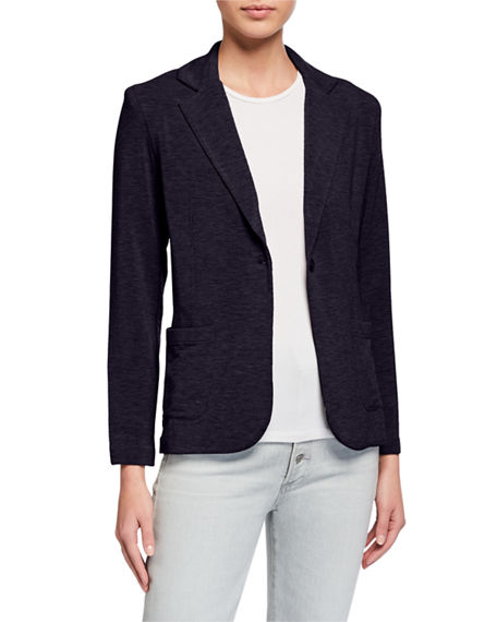 Majestic Filatures One-Button Long-Sleeve Blazer
